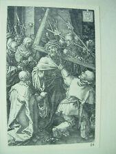 Albrecht DURER VINTAGE incisione su rame cuscinetto della Croce-PASSIONE N. 10