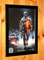 Battlefield 3 video game Rare Small Poster / Ad Page Framed PS3 Xbox 360
