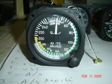 BEECHCRAFT AIRSPEED INDICATOR BY UNITED INSTRUMENTS  , P/N 8130, LIGHTED