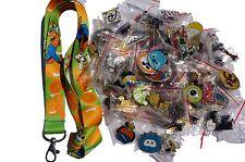 Disney World Pin Trading Lot Lanyard Starter Set Green Goofy w/ 10 Pins