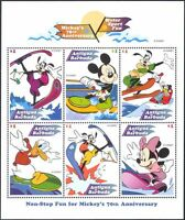Antigua 1999 Disney/Mickey Mouse/Water Skiing/Donald Duck/Minnie 6v sht d00234a