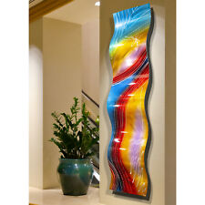 Metal Wall Art Sculpture, Colorful Painted 3d Contemporary Home Decor Jon Allen