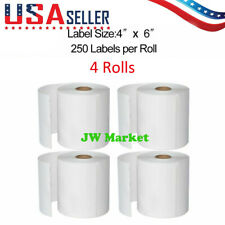 4x6 Direct Thermal Shipping Labels For UPS USPS 250 Labels(4 Rolls)- 1000 labels