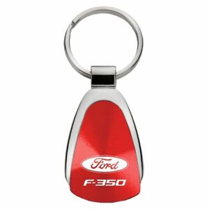 Ford F-350 Key Ring Red Teardrop Keychain