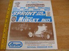 1981 program Sprint Car Races CRA Open Wheel ASCOT Agajanian Ent Donovan