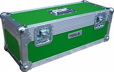 "7"" Single 300 Swan Flight Case Vinyl Record Box (Green Rigid PVC)"