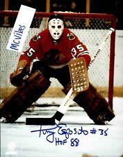 Tony Esposito Chicago Black Hawks Autographed Signed 8x10 Photo COA HOF NICE!!