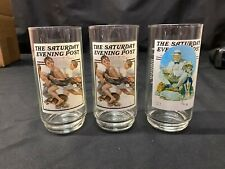 Vintage Arby's Norman Rockwell Saturday Evening Post Glasses - Set of 3!