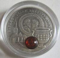 Niue 1 Dollar 2009 Amber Route Elblag / Elbing Silber