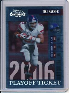 2006 Contenders Playoff Ticket #66 TIKI BARBER 83/199