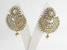 Gold Wedding Round Chand Bali Bollywood Earring Indian Party Wear Bridal Jewelry