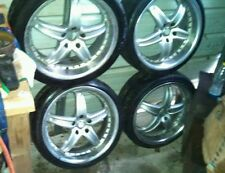 4 raja alloy Audi Wheels Rims 225/40/19 with tires and center caps. Please read