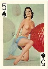 Org 50s-60s Large (5 x 7) Nude Hard Stock Playing Card- Skinny- Party Decoration