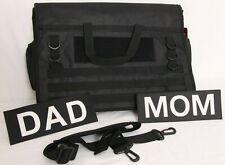 NEW ThinkGeek Messenger Mom Dad Interchangeable Patches Tactical Diaper Bag
