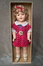 "Vintage Shirley Temple Composition Doll 1930s 18"" Very Rare Original Box"