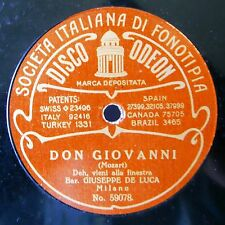"11"" DE LUCA GIUSEPPE Opera 78rpm Odeon 59077/8 Don Pasquale/Don Giovanni"