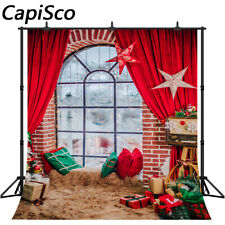Photography Background Christmas Curtain Carpet Gifts Baby Photographic Backdrop