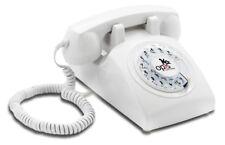 Opis 60s cable: Retro/Vintage Telefon mit Wählscheibe Festnetz/Tischtelefon weiß