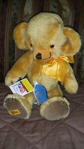 Vintage Mohair MERRYTHOUGHT Teddy Bear CHEEKY music bear