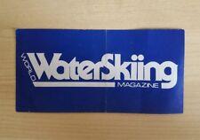 Vtg 80s World Waterskiing Magazine Water Skiing Ski Gear Boats Decal Sticker