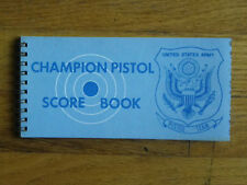 Unused Vtg Us Army Pistol Team Pistol Score Book-1966 Cr-Vietnam Era?