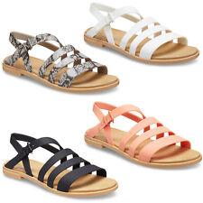 Crocs Tulum Sandals Womens Beach Holiday Slip On Open Toe Strap Slingback Flats