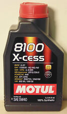 MOTUL 8100 X-cess 5w40 Engine Oil 1l Fits CITROEN ID 19 P