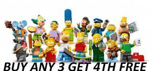GENUINE LEGO MINIFIGURES SIMPSONS SERIES 1 71005 PICK CHOOSE + BUY 3 GET 1 FREE