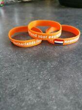 """2 x Netherlands Forever wristband, """"Nederland voor eeuwig"""""""
