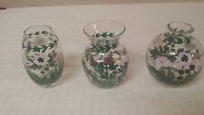 "Portmeirion Botanic Garden Mini Vases 3"" Tall Daisy Rhododendron"
