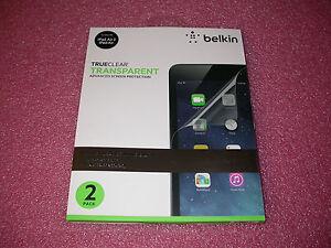 2 Pack Belkin TrueClear Transparent Screen Protection Kit for iPad Air/iPad Air2