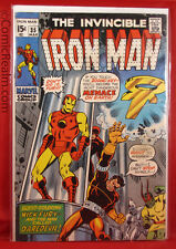 The Invincible Iron Man #35 (1971) Marvel Nick Fury & Daredevil B&B FV+!