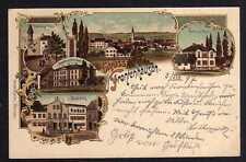 86693 AK Frontenhausen 1897 Litho Marktplatz Haus Eisgruber Renkl