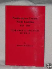Northampton County North Carolina Wills 1759 Margaret Hofmann Genealogy Books