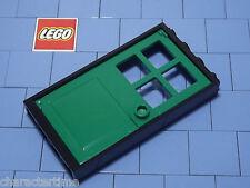 Lego 60596 / 60623 1x4x6 Black Door Frame / Green Door X 1 NEW