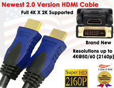 Super Resolution 2.0 Version 4K X 2K 6FT HDMI + HDMI to DVI-D 24+1 F/M Adapter