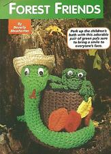 *Forest Friends Snake & Frog Bath Tissue Cover crochet PATTERN INSTRUCTIONS