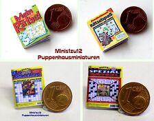 1402# Kleine Rätselhefte - Miniaturzeitschr.-  Puppenhaus - Puppenstube - M1zu12