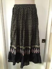 Cool American Rag Cie Black White Red Blue Geometric Print Long Skirt Size Large