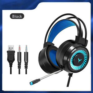 Gaming Headsets Gamer Headphones Surround Sound Stereo Wired Earphones USB