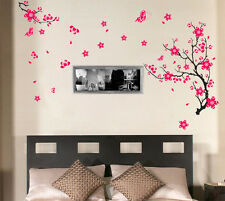 RED CHERRY Blossom Fiore Farfalla Adesivo Parete Carta Decalcomania Home Decor VINILE