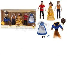 Disney Store Beauty and the Beast Mini Belle, Prince/Best, Gaston Doll Set