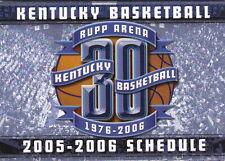2005-06 UNIVERSITY OF KENTUCKY WILDCATS BASKETBALL POCKET SCHEDULE