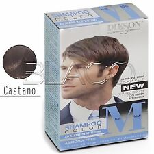 Dikson Shampoo Color M for Man Uomo per Capelli grigi bianchi colore Castano
