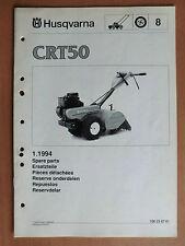 HUSQVARNA Gartenfräse CRT 50 Ersatzteilliste parts list 1994 Motorhacke
