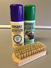 Nikwax WATERPROOFING Kit For Leather Golf Shoes With Cleaning Gel, Wax & Brush
