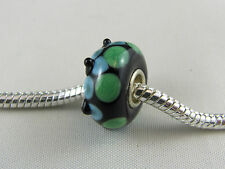 SINGLE SILVER CORE MURANO GLASS BEAD FOR EURO STYLE CHARM BRACELETS (#MB 200)