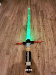 Star Wars Disney Parks Build your Own Lightsaber green Kylo Ren Electronic