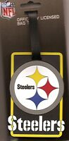 Pittsburgh Steelers Travel Bag Tag Rubber Luggage ID Tag Team Colors NFL