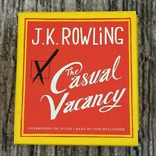 JK Rowling The Casual Vacancy Unabridged 15 Audio CD's Read by Tom Hollander